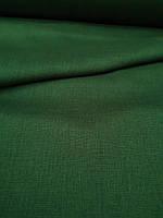 Льняная костюмная ткань зеленого цвета, фото 1