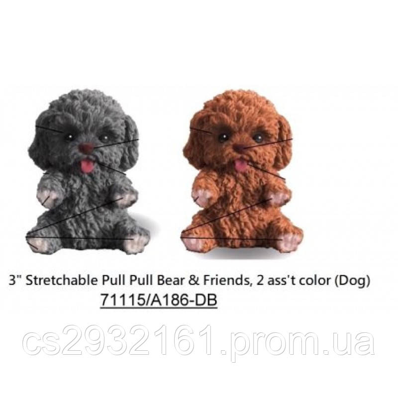 Животные собака 24 шт. в коробке тянучка