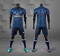 Футбольная форма Реал Мадрид (Real Madrid) 2019-2020 Выездная синяя, фото 1