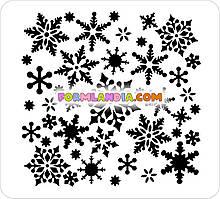 Трафарет для пряників Сніжинки №2