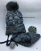 Детский зимний комплект шапка и снуд на мальчика(4-6 лет), фото 1