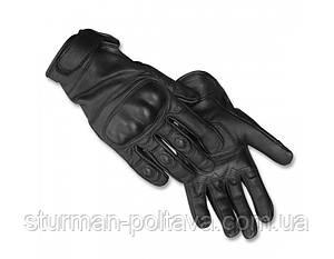 Рукавиці тактичні шкіряні чорні (Mil-tec) Німеччина