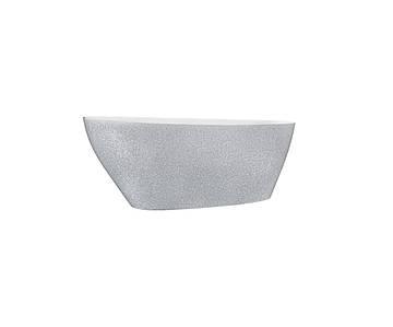 Ванна з штучного мармуру Besco GOYA 160x70 срібна з сифоном