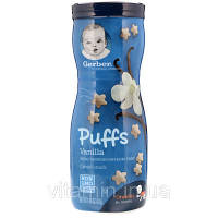 Gerber, Puffs Cereal Snack, Crawler, 8+ Months, Vanilla, 1.48 oz (42 g), фото 1