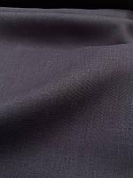 """Льняная костюмная ткань """"Вымытый черный"""", фото 1"""