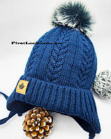 Зимняя шапка на мальчика(флис+синтепон), фото 1