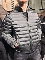Куртка мужская стеганная Stone Island серого цвета