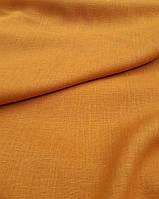 Льняная костюмная ткань охряного цвета, фото 1