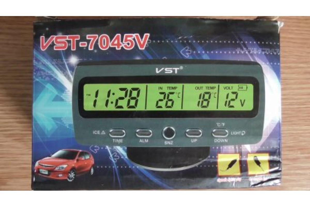 Часы автомобильные VST 7045v (100)