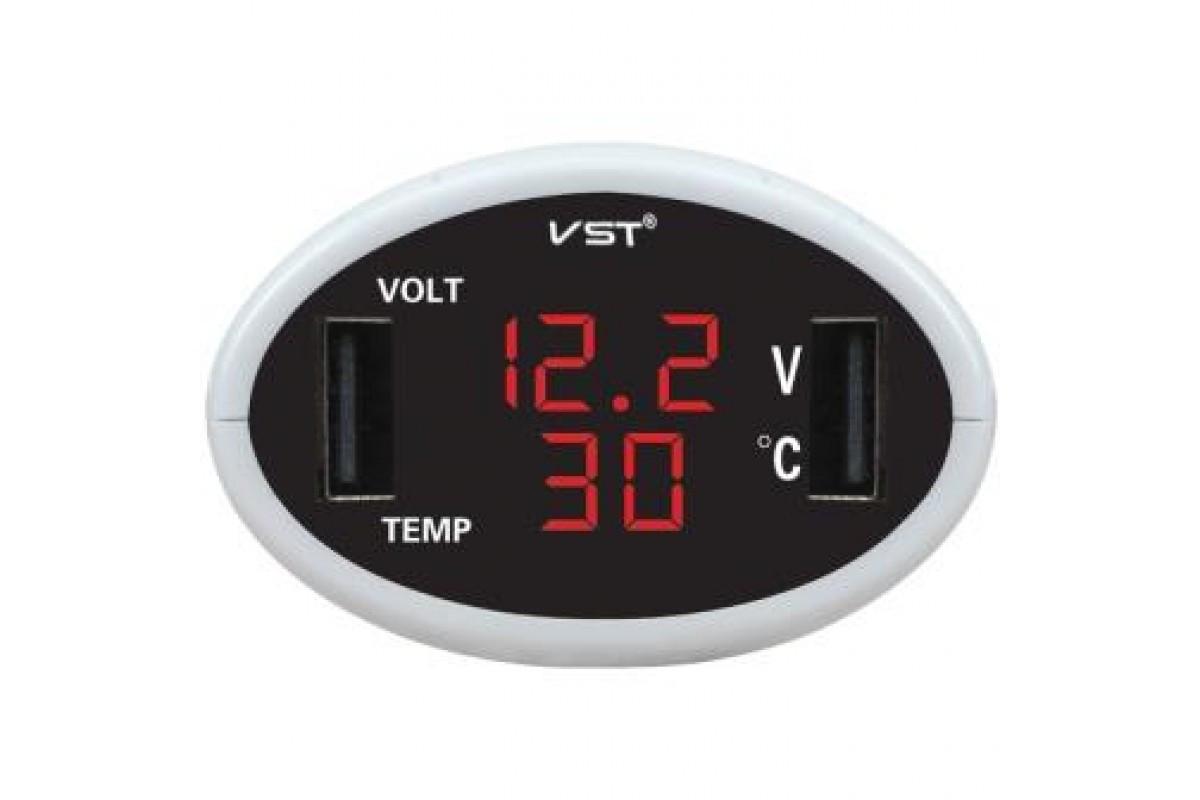Часы автомобильные VST 708-1 (50)
