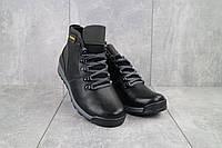 Подростковые ботинки кожаные зимние черные-серые Brand T2, фото 1