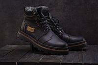 Мужские ботинки кожаные зимние черные Riccone 315, фото 1