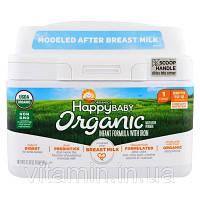 Nurture Inc. (Happy Baby), Organics Happy Baby, Молочная смесь с железом, Уровень 1, с рождения до 12 месяцев, 595 г (21 oz)