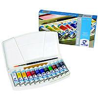 Набор акварельных красок Van Gogh 12 цветов 10 мл тубы в пластике + кисть (20800112)