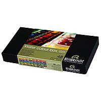 Набор акварельных красок Rembrandt De Luxe 48 цветов 2,5 мл кюветы в металле (5838649)