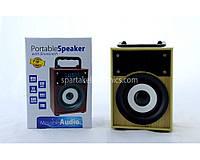 Мобильная Колонка SPS KTS 668 BT, 500 мАч, моно, 5Вт, Bluetooth, радио, micro-SD, TF Card/USB 2.0, LED подсветка, портативная колонка