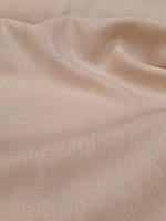 Льняная костюмная ткань цвета сгущённого молока, фото 1