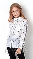Рубашка для девочки Mevis белая 2899-01