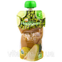 Nurture Inc. (Happy Baby), Органическое детское питание, груши, кабачок и горох,  2-й этап, 6+ месяцев, 4,0 унции(113 г)