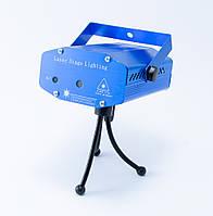 🔝 Лазерный проектор для световых эффектов, Mini Laser Stage HJ, Синий, лазерная гирлянда, светомузыка | 🎁%🚚