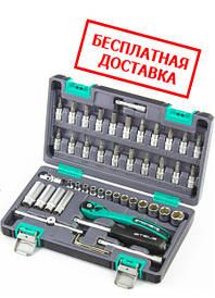 """Набор инструмента, 1/4"""", Cr-V, S2, усиленный кейс, 47 предметов Stels"""