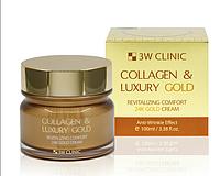 Корея.Крем для лица 3W Clinic Collagen & Luxury Gold Cream