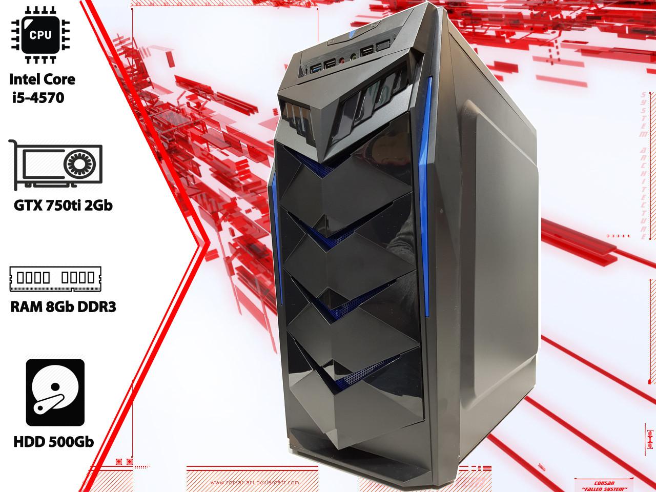 Игровой ПК Intel Core i5 4570, GTX 750ti, DDR3 8Gb, 500Gb