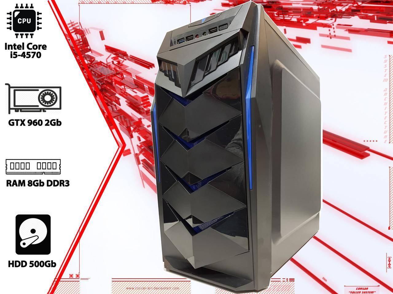 Игровой ПК Intel Core i5 4570, GTX 960, DDR3 8Gb, 500Gb