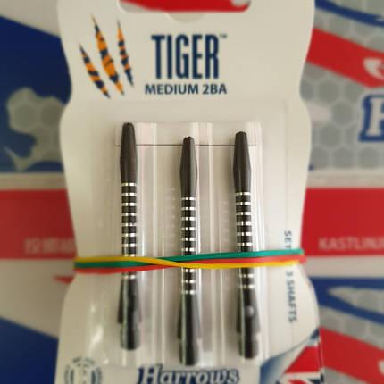 Хвостовики дартс Tiger Harrows черные medium 6 штук, фото 2
