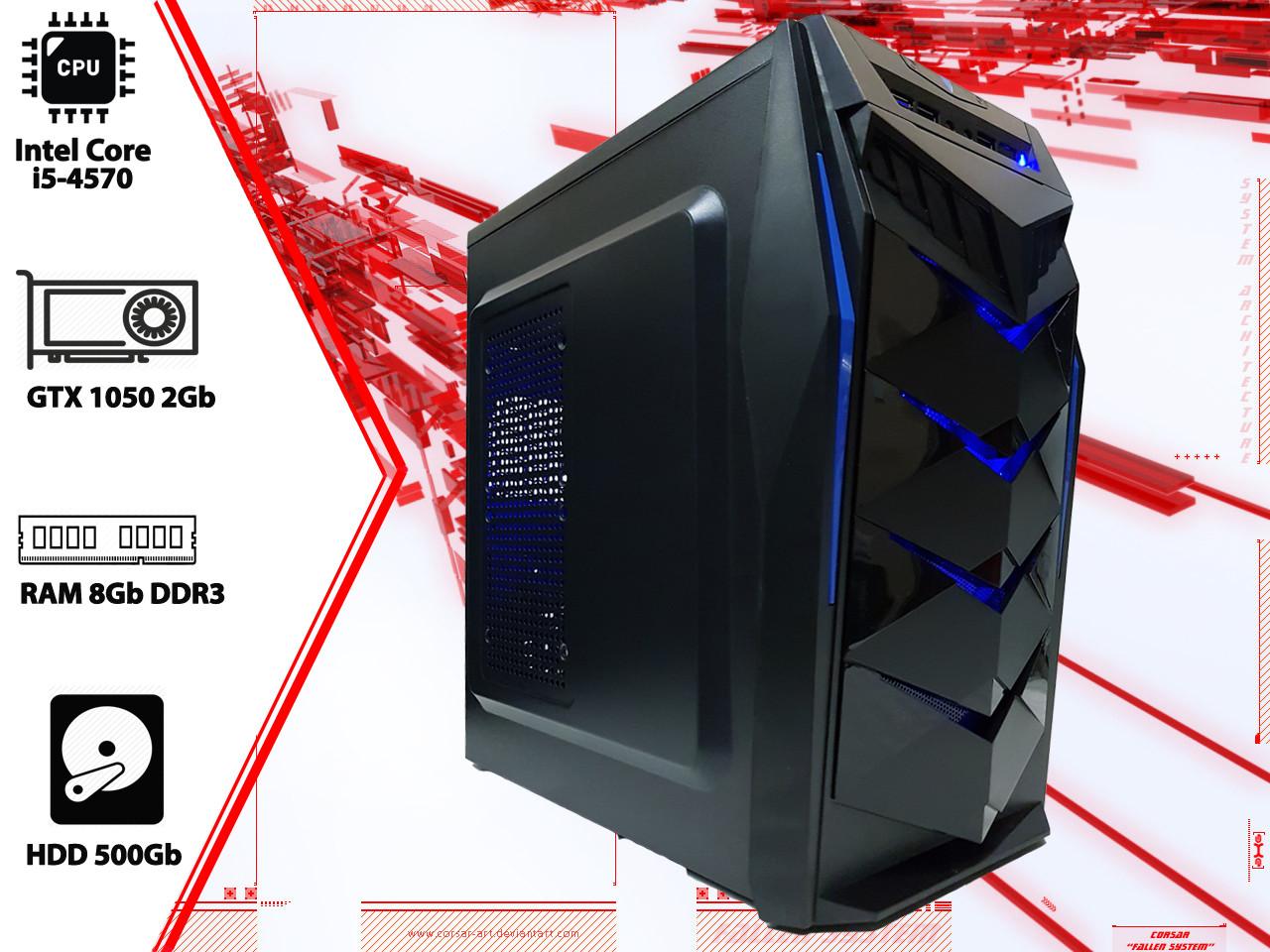 Игровой ПК Intel Core i5 4570, GTX 1050 2Gb, DDR3 8Gb, 500Gb