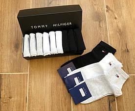 Набор коротких мужских носков TOMMY HILFIGER 9 пар в подарочной упаковке! Реплика!
