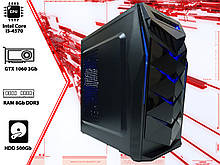 Игровой ПК Intel Core i5 4570, GTX 1060 3Gb, DDR3 16Gb, 500Gb