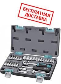 Набор инструментов 1/4, CrV, пластиковый кейс 29 предметов Stels