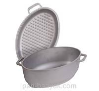 Гусятница Биол с крышкой-сковородой 6л h16,6 см литой алюминий (Г601)