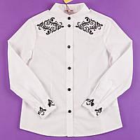 Блузка школьная с вышивкой SUZIE Мария белая СЧ-11713