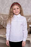 Блузка школьная с кружевом SUZIE Эмма белая  СЧ-12713