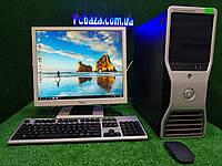 """ПК с монитором 19"""" Dell Precision 390 \ Intel 4 ядра, 4 ГБ ОЗУ, 160 Гб HDD"""