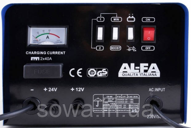 ✔️ Пуско зарядное устройство AL-FA PRO-LINA ALCC7 ( 12В / 24В ) Автомобильное зарядное устройство