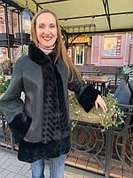 Дубленка женская Adamo трапеция воротник стойка, фото 1