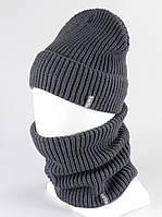 Комплект шапка бафф хомут KANTAA серый, фото 1