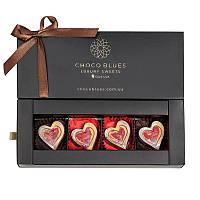 Романтическая коллекция: 4 шоколадные конфеты в подарочной коробке с необычным вкусом