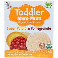 Hot Kid, Toddler Mum-Mum, Organic Rice Biscuits, Sweet Potato & Pomegranate, 12 Packs, 2.12 oz (60 g), фото 1