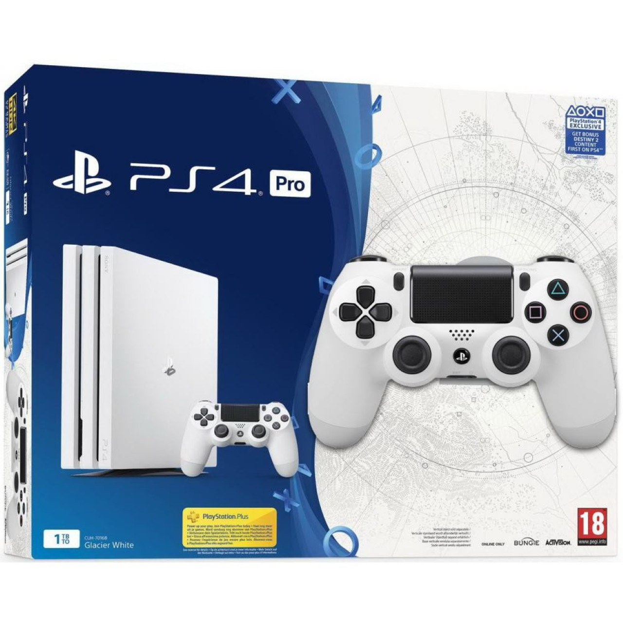 Ігрова приставка Sony PlayStation 4 PRO 1TB White