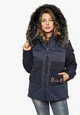Укороченная зимняя куртка из плотной плащевой ткани черная размер 44-46 48-50 52-54, фото 3