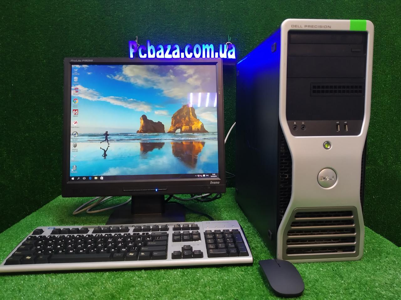"ПК с защитным монитором 19"" Dell Precision 390 \ Intel 4 ядра, 4 ГБ ОЗУ, 160 Гб HDD"