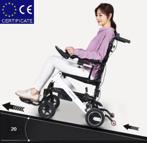 Легкая складная алюминиевая электроколяска для инвалидов D-6033 (D-6033)