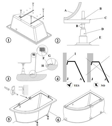 Ніжки для акрилової ванни Besco, фото 2
