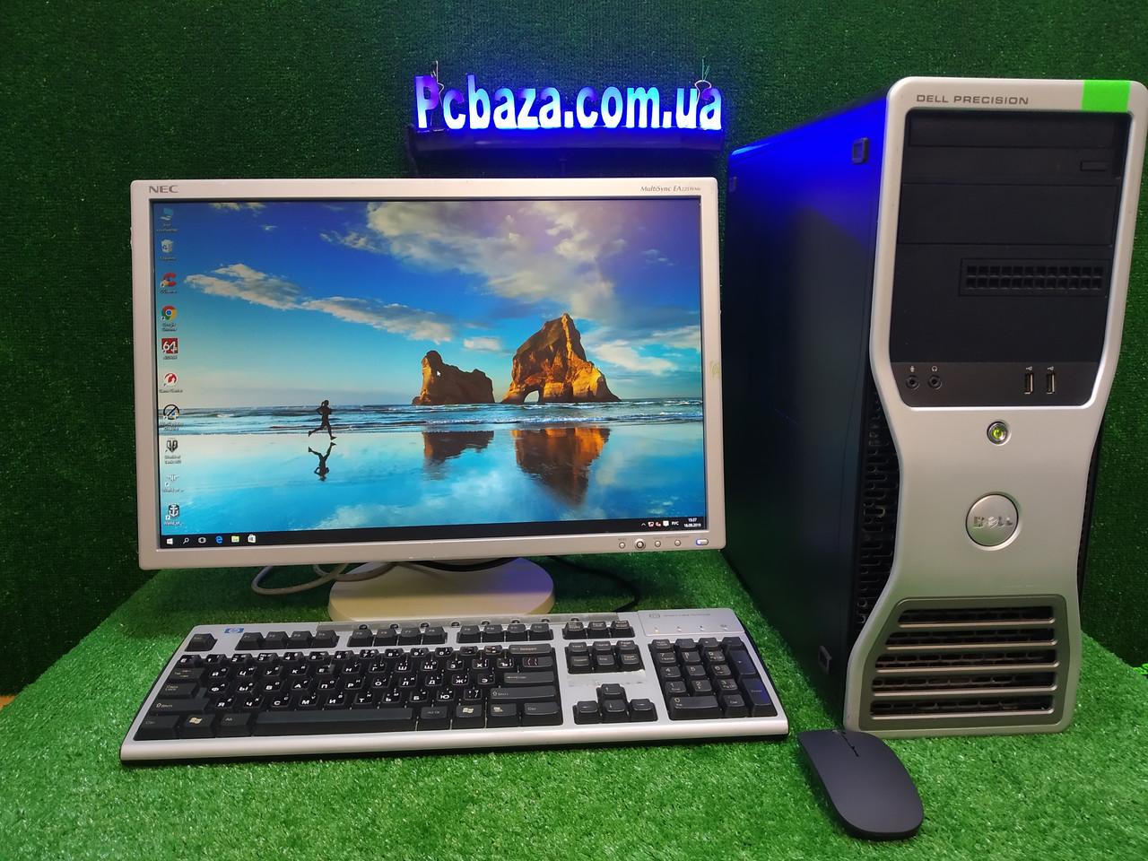 """Компьютер Dell с монитором 22"""" NEC\ Intel 4 ядра, 4 ГБ ОЗУ, 500 Гб HDD"""
