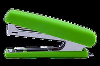 Степлер пластиковий RUBBER TOUCH до 12арк. (скоби №10), св-зелений