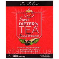 Natrol, Laci Le Beau, чай для придерживающихся диеты, натуральные лекарственные травы, 60 чайных пакетиков, 5.26 унций (150 г)